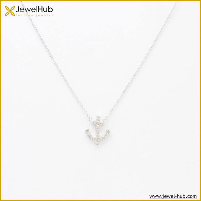 Arrow Silver Necklace, Necklace - JewelHub jewelry