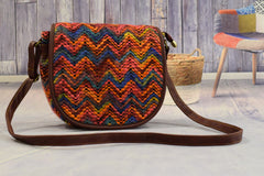 Cross Colorful Brown Bag