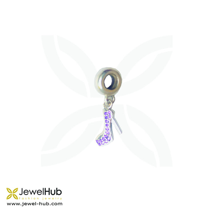 A charm with twinkling high heel.
