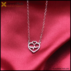 Multiple Hearts Silver Necklace