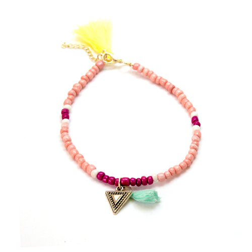 Stylish Pink Anklet