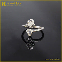 Two Heart Silver Ring