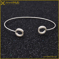Big Circles Silver Bangle