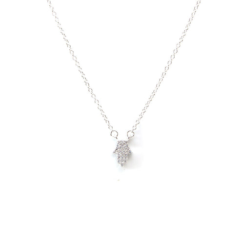 Small Hamsa Silver Necklace
