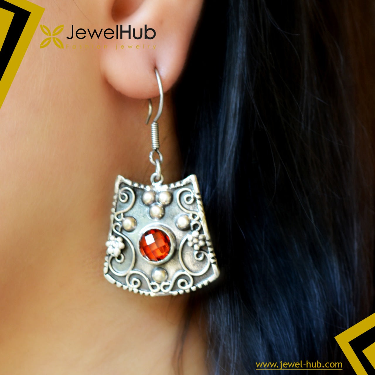 Agate  Arabic Silver 925 Earrings