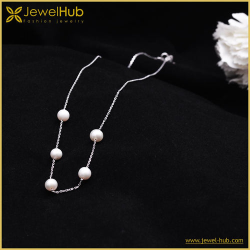 Pearls Silver Necklace