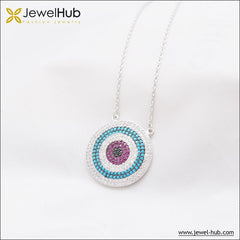 Circle Nano Turquoise Silver Necklace