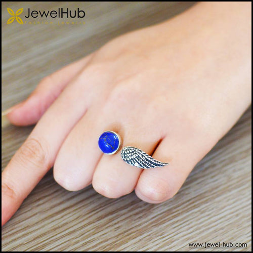 Wing Boho Silver Ring