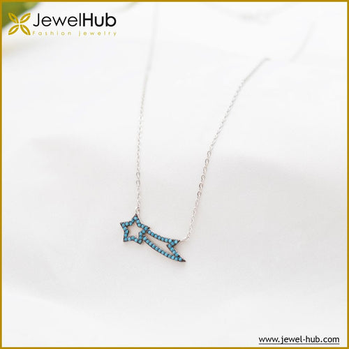 Star Nano Turquoise Silver Necklace