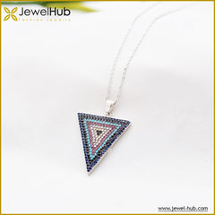 Triangle Nano Turquoise Necklace