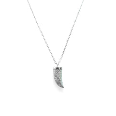 Horn Silver Necklace