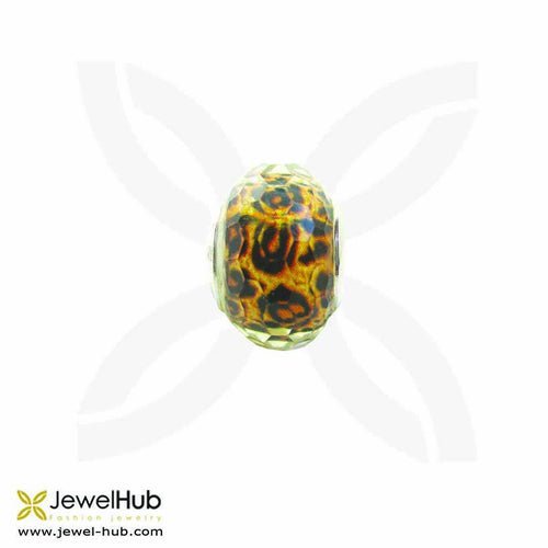 tiger Skin  crystal charm sterling silver 925