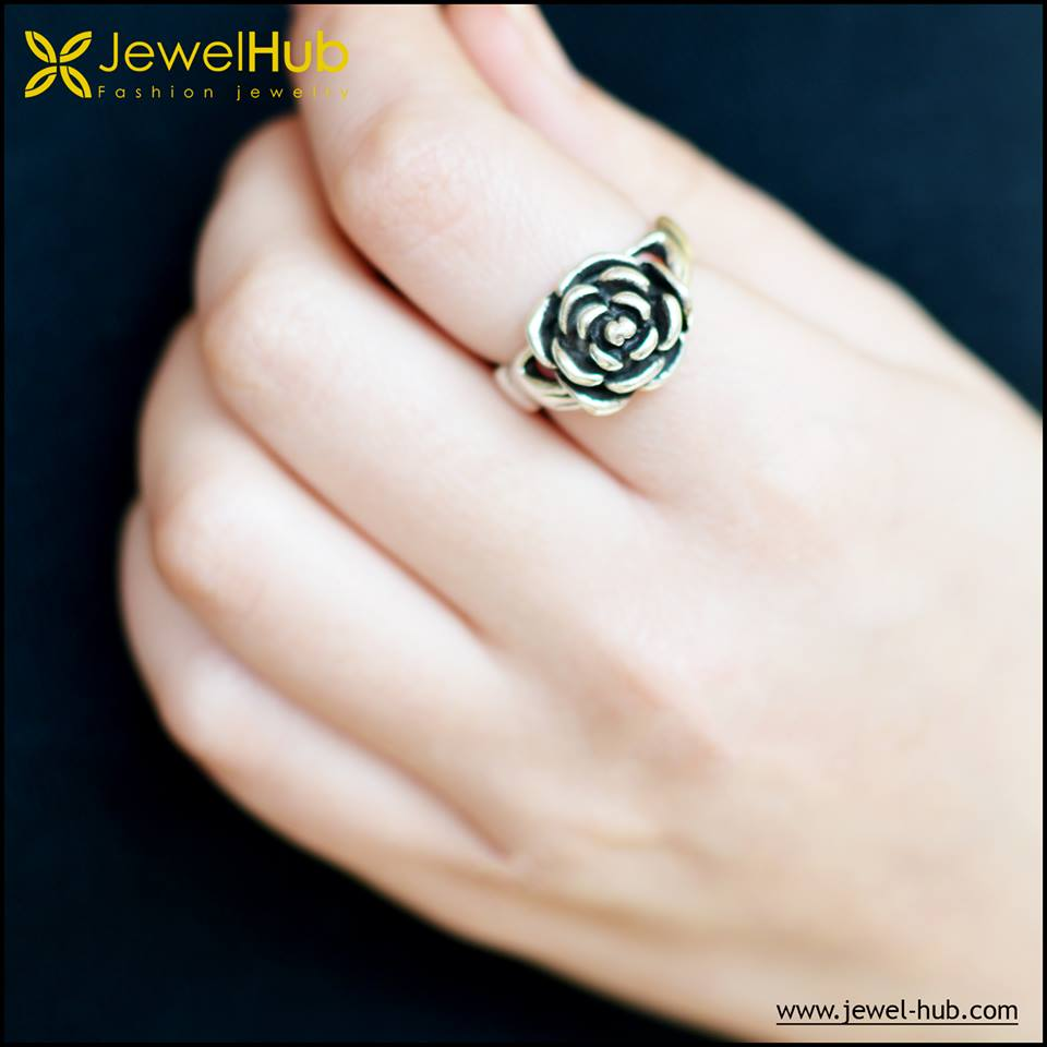Amazing Flower Silver Ring