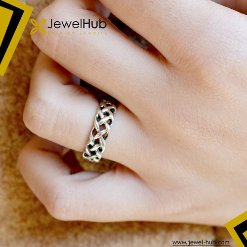 Plait Silver Ring
