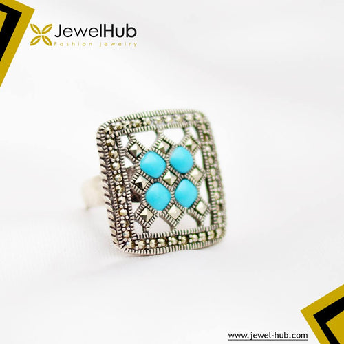 Turquoise Square Silver Ring