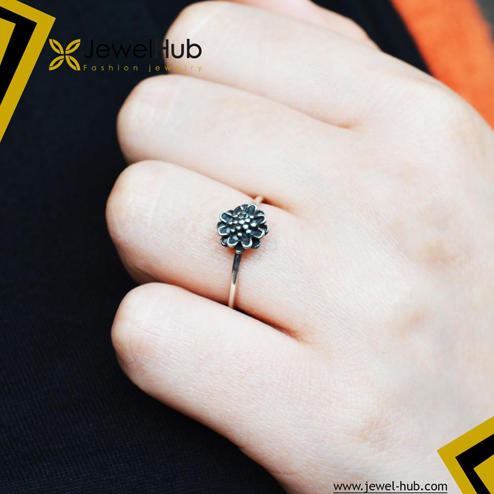 Small Flower Boho Ring