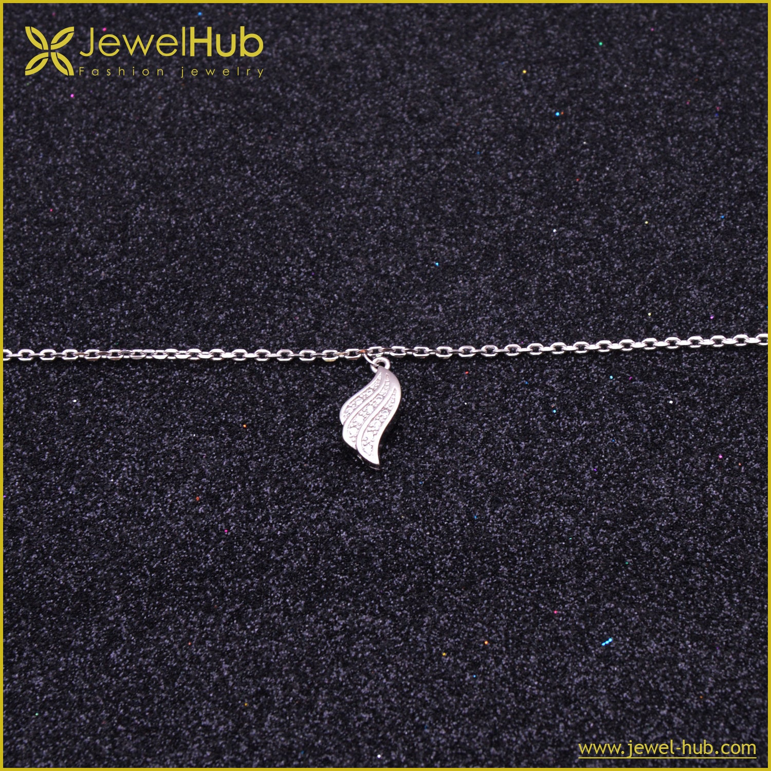 Wing Silver Anklet