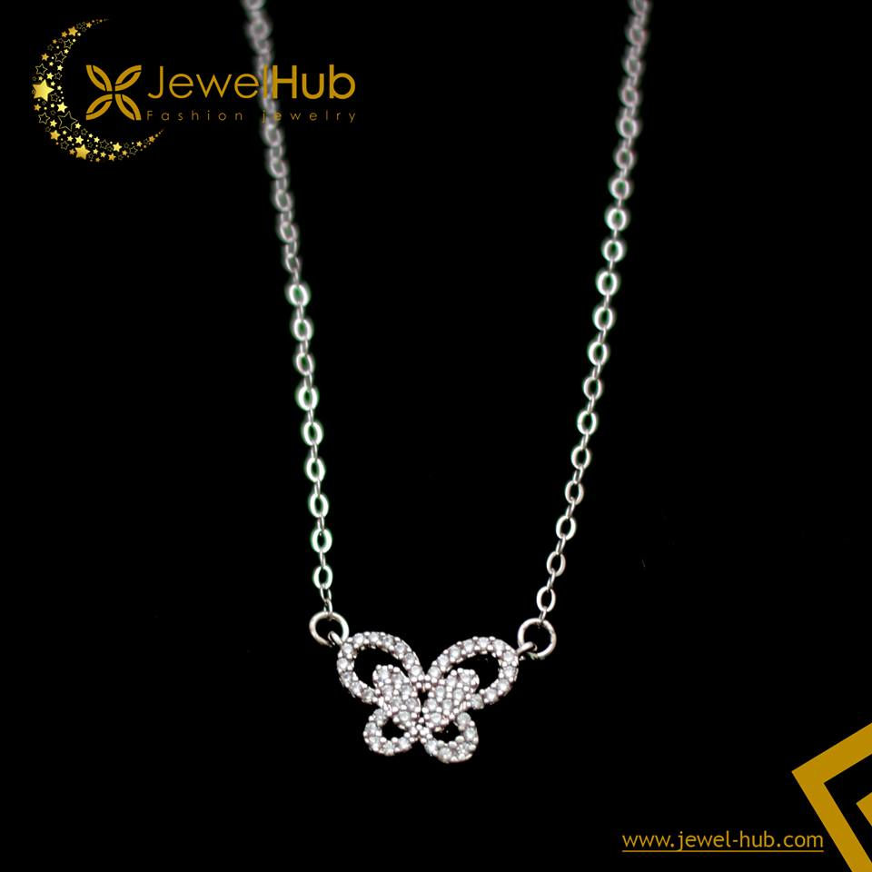 Butterfly Silver Necklace