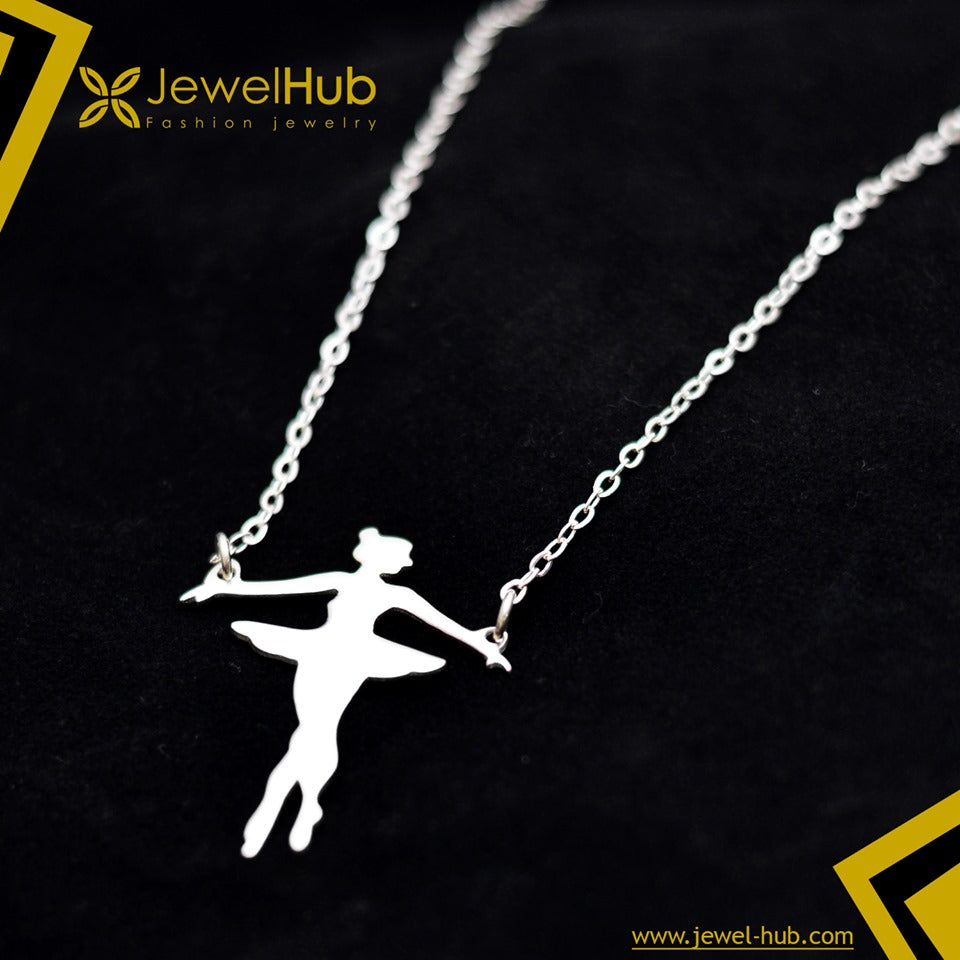 Ballerina Dancer Silver 925 Necklace