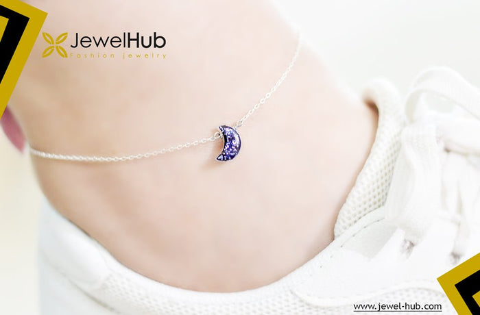 Moon Silver Anklet
