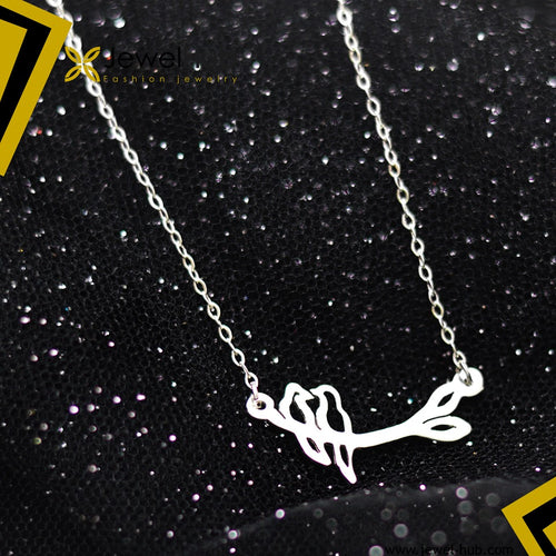 Love Birds Silver Necklace
