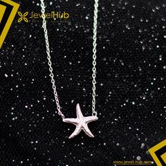 Star Fish Silver 925 Necklace