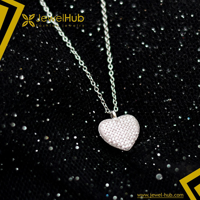 Amazing Heart Silver Necklace