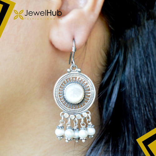 ٍStylish Arabic Silver Earrings
