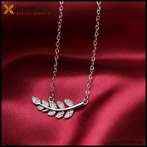 Leaves Italian Silver Necklace