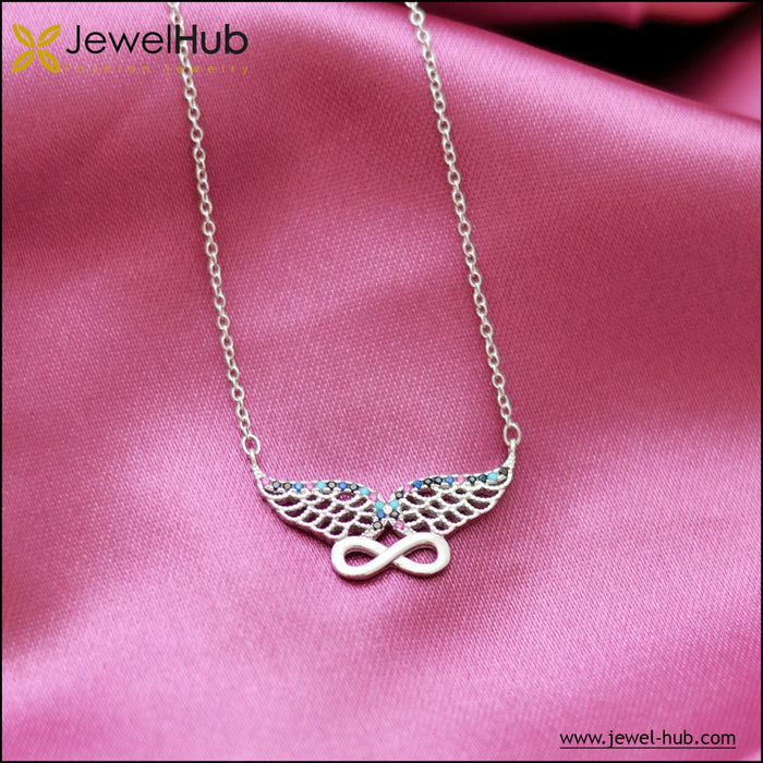 Wing & Infinity Silver Necklace