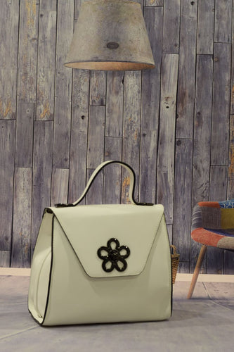 White Flower Handbag