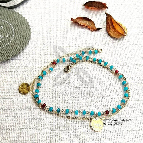 Small blue stones anklet
