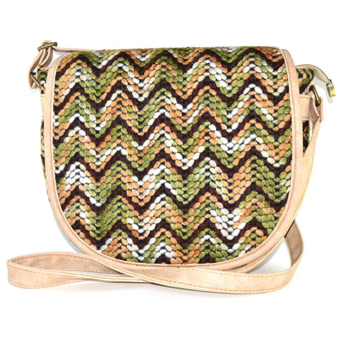 Cross Colorful Beige Bag