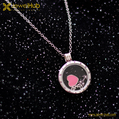 Love Heart & Arrow Silver Necklace