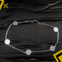 Large Coin Silver Anklet