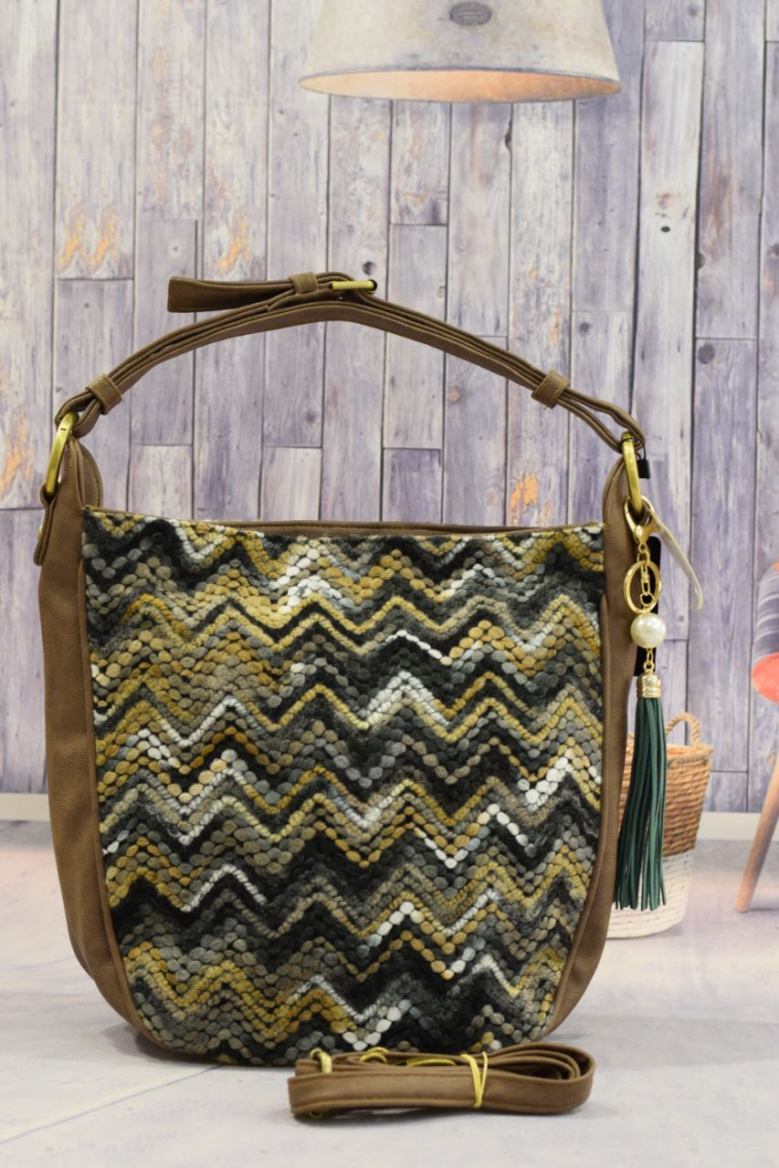 Tassels Brown Handbag