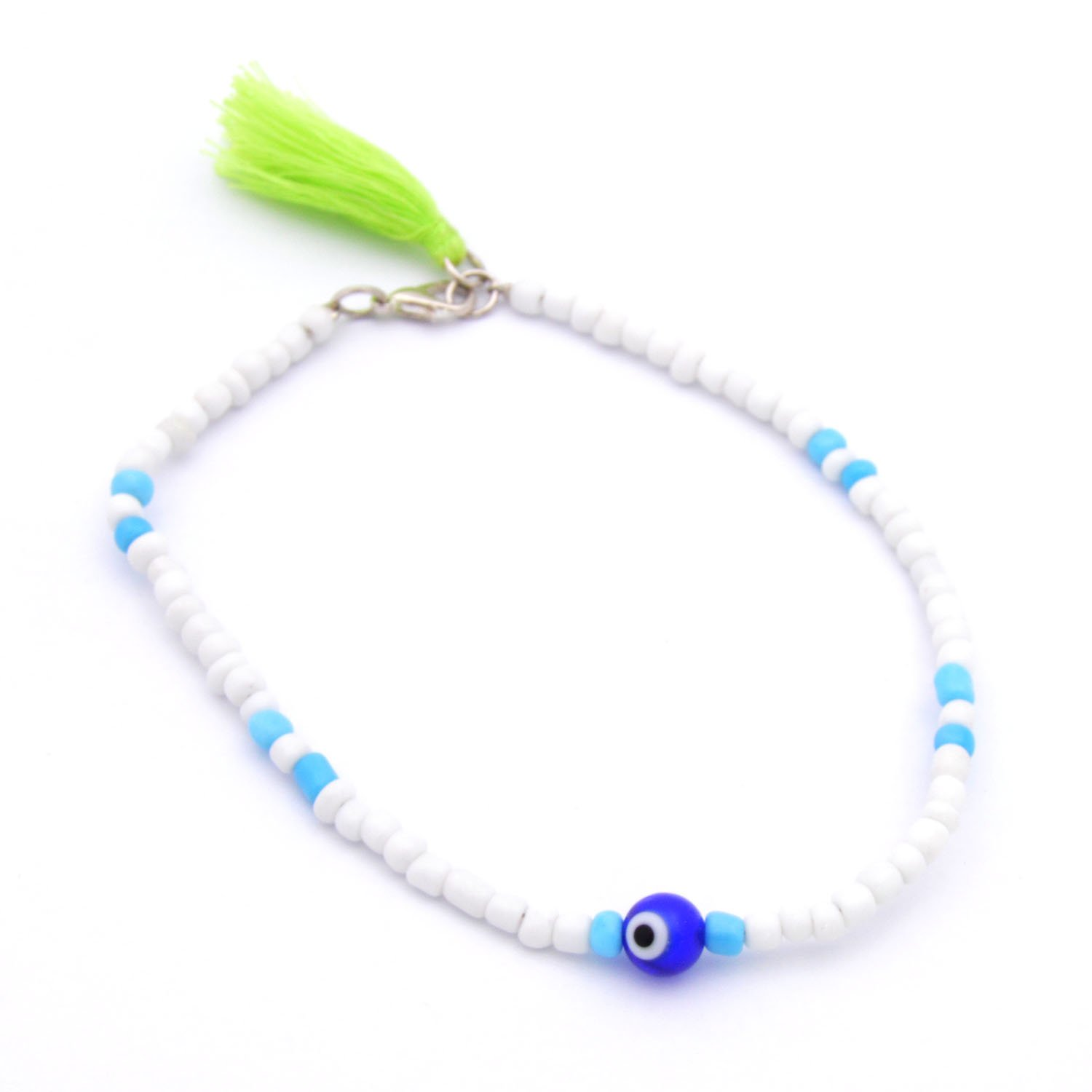 Fashionable White Anklet