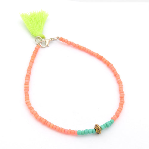 Fashionable Green Anklet