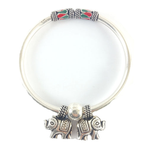 Lovely Two Elephants Bracelet