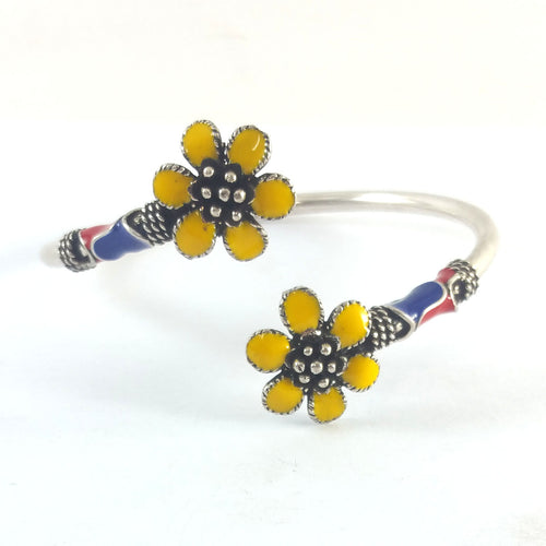 Yellow Flower Boho Bangle