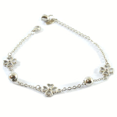 Fashionable Flowers Silver Bracelet
