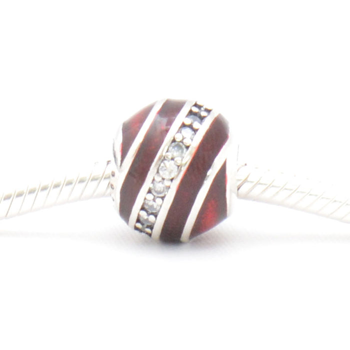 Red Ball Silver Charm, Silver Charm - JewelHub jewelry
