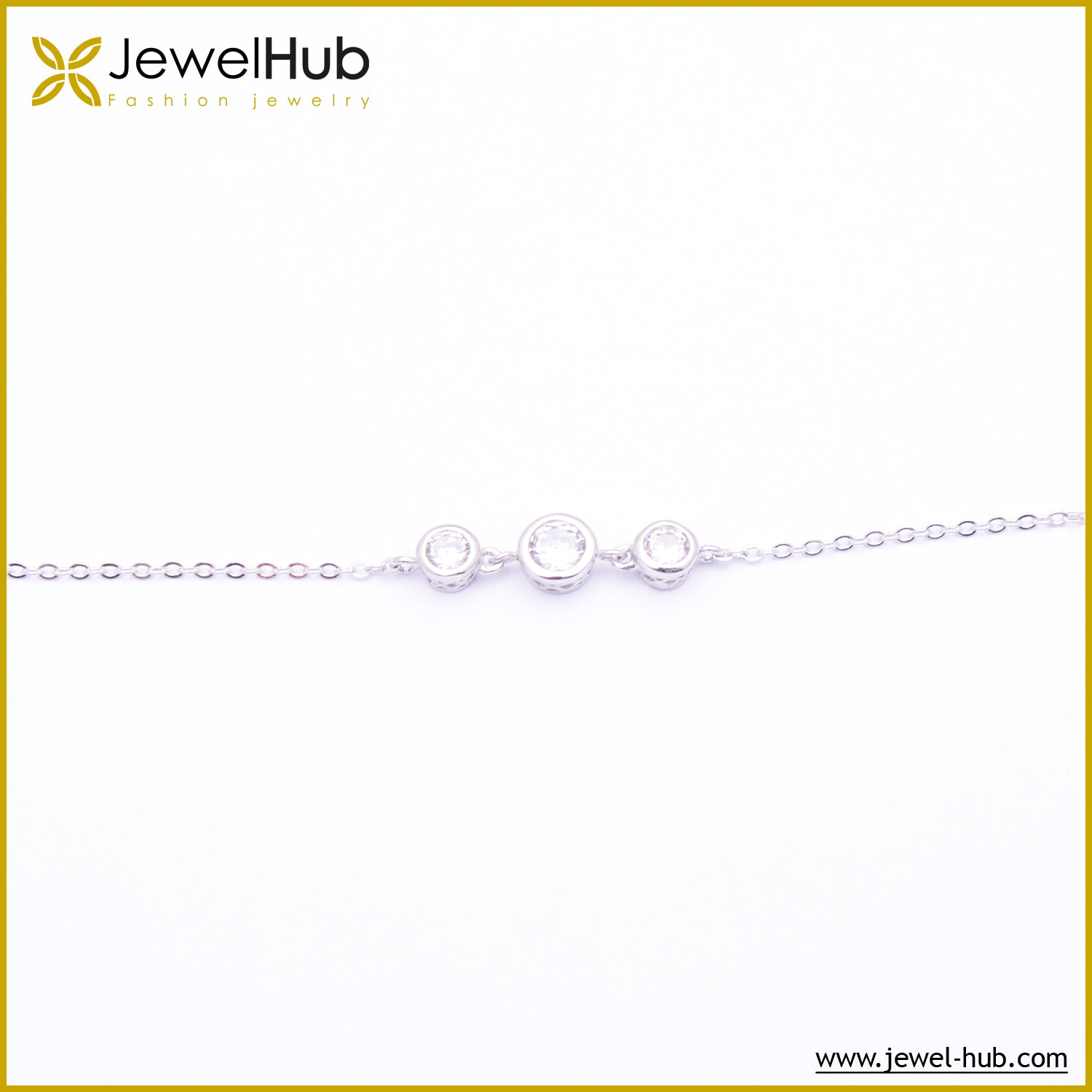 Diamonds CZ Silver Bracelet