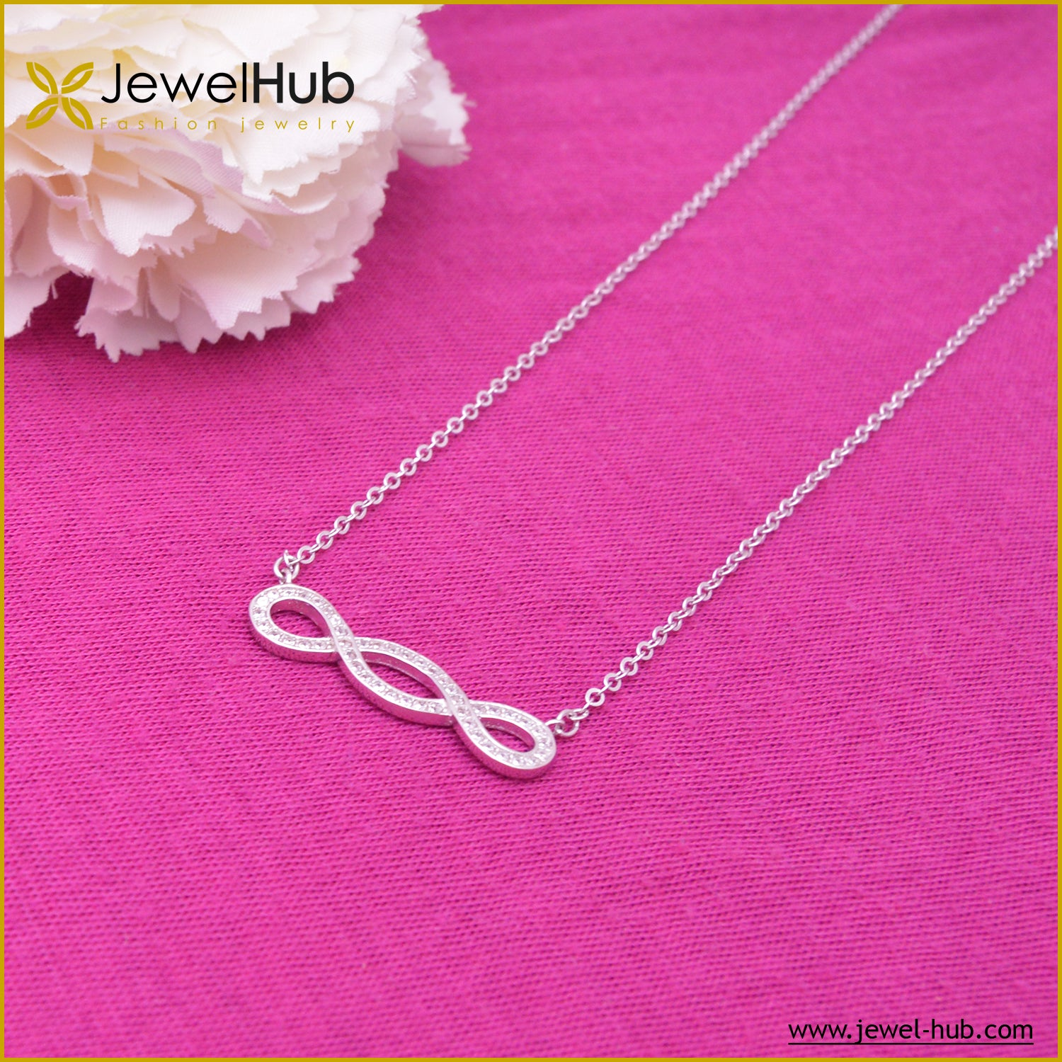 Big Infinity Silver Necklace