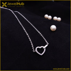 Pretty Heart Silver Necklace
