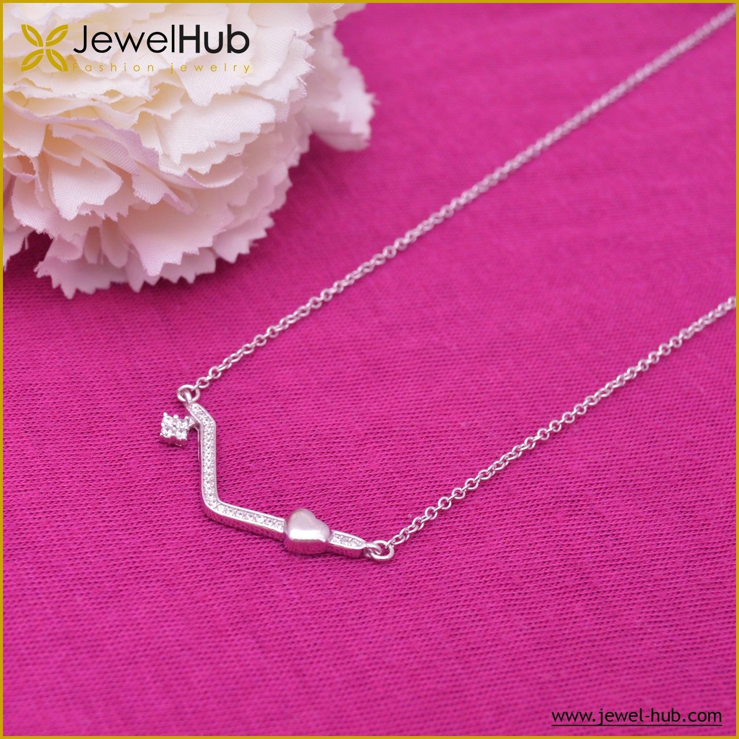 Love Smile Silver Necklace
