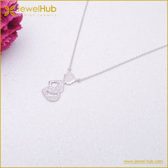 Pregnant Women Silver Necklace