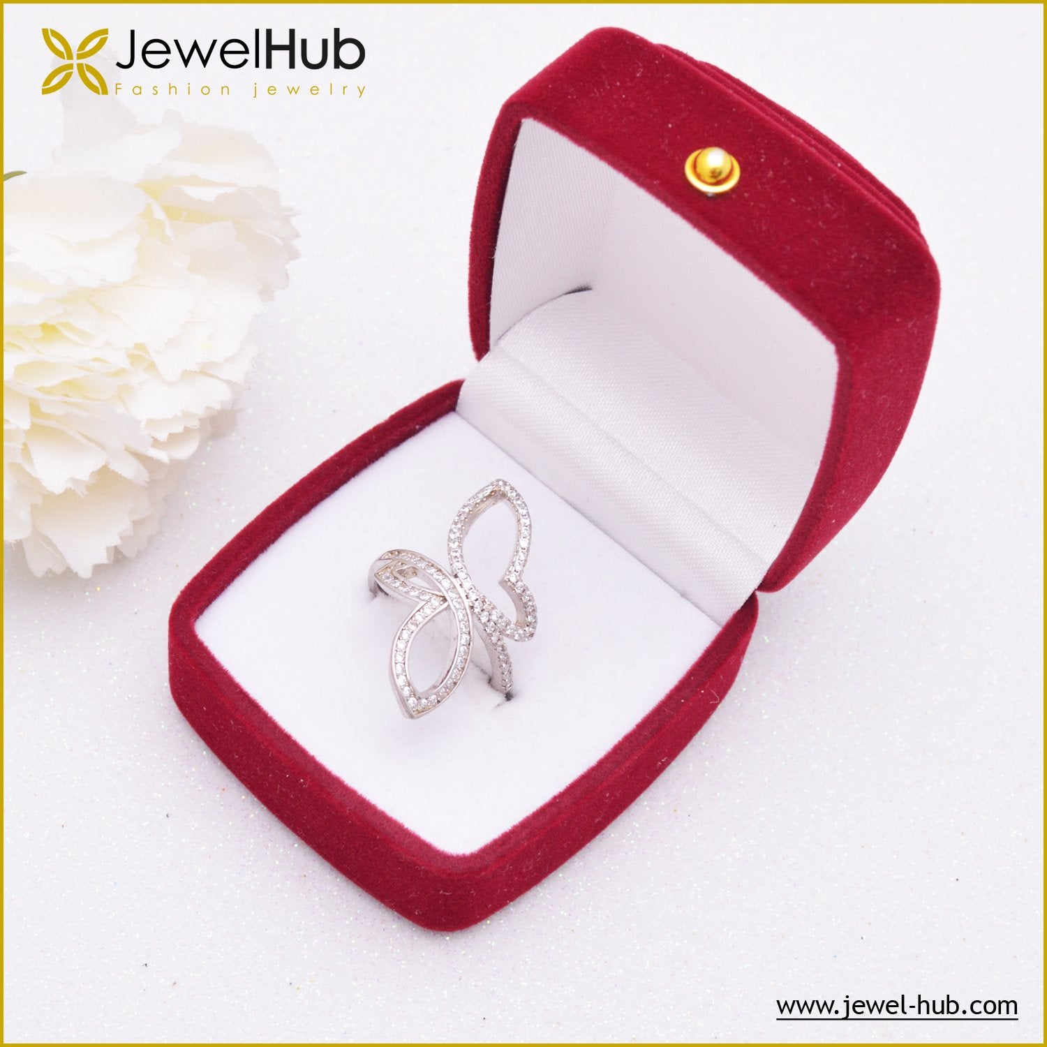 Big Butterfly Silver Ring