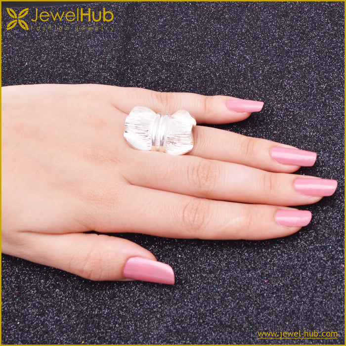 Big Leaf Silver Ring, Ring - JewelHub jewelry