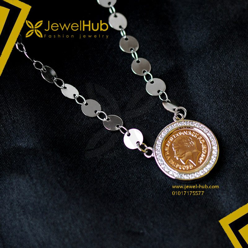 Coin & disc necklace